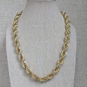 Moda Di Pietra Gold Plated Chainlink Necklace